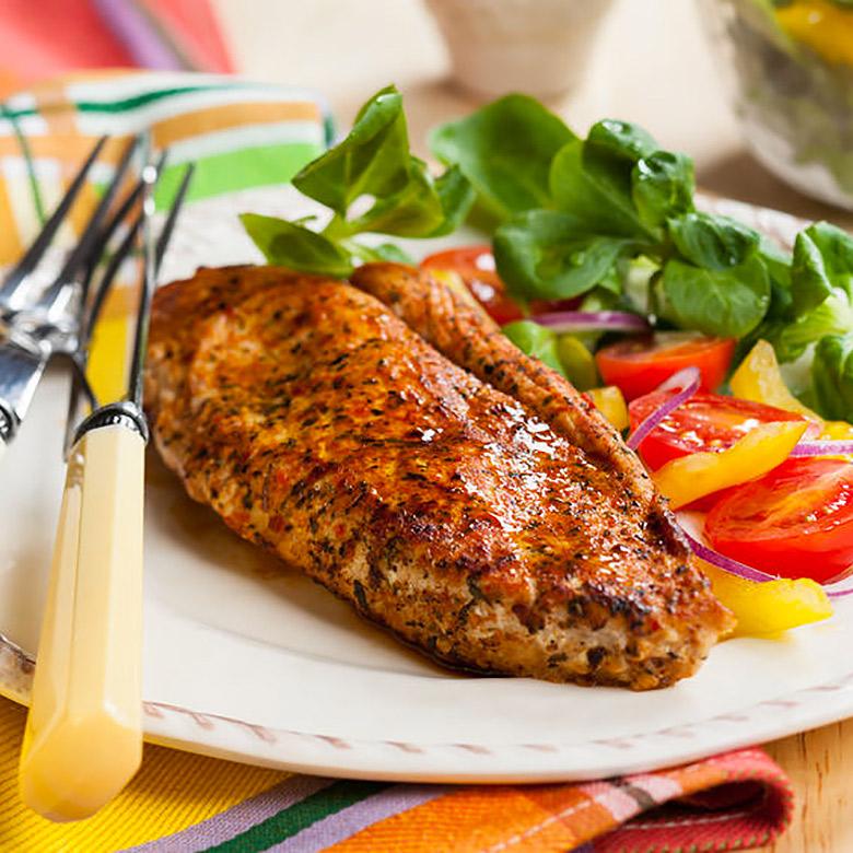 Pechugas de pavo o pollo con jengibre y soja