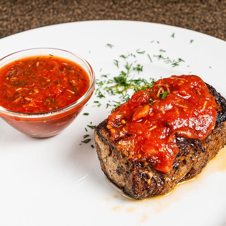 Solomillo con tomate y especias