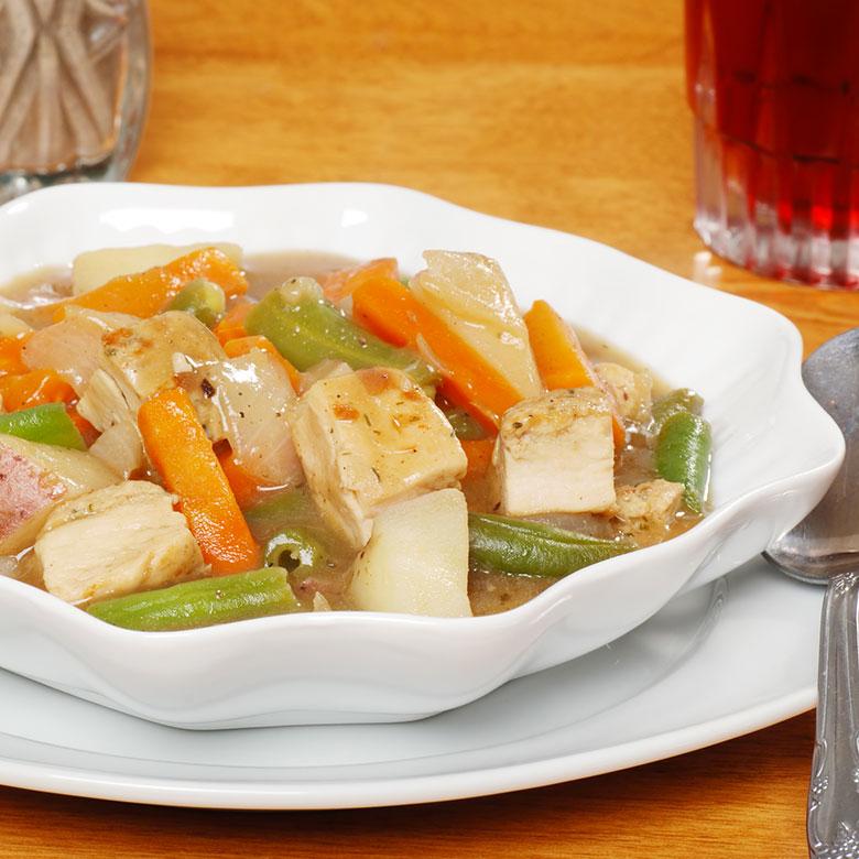 Caldereta de pavo con verduras