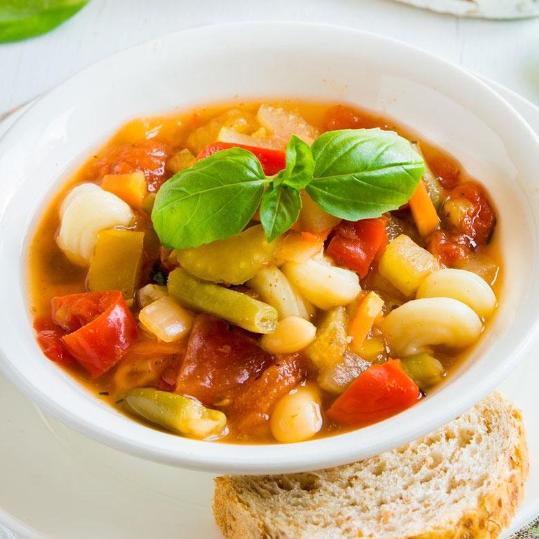 Sopa minestrone ligera